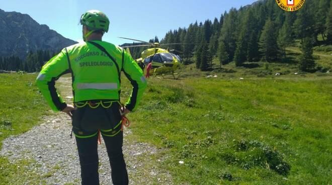 incidente friuli per avvocato noseda di como recupero con elicottero soccorso alpino e luogo incidente