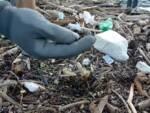 pescatori alpha como ripuliscono diga foranea