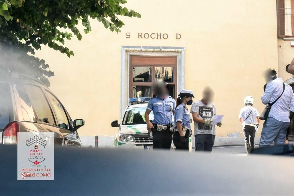 polizia locale como controllo irregolari auto agenti verifiche
