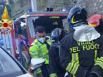 pompieri e 118 incidente mortale moto sulla regina brienno galleria