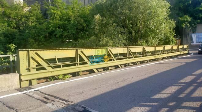 ponte di maslianico chiuso al traffico per lavori di controlli alla struttura