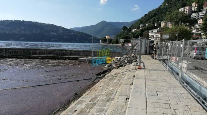 porto di sant'agostino a como per lavori nuovo pontili struttura ancora vuota