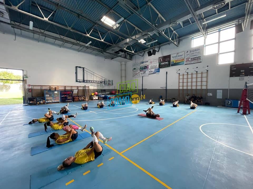 raduno albesevolley e prime foto allenamento palestra con preparatore