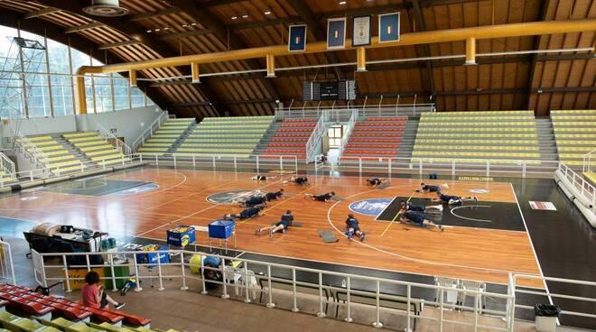 raduno e saluto del presidente Molteni per Pool Libertas Cantù volley maschile