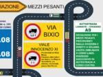 schema comune como per chiusura autostrada mezzi pesanti  per lavori gallerie