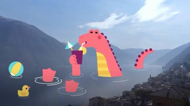 video animato argegno con lariosauro