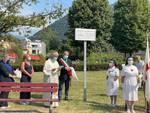 cerimonia intitolazione giardini via sant'elia a como a crocerossime comasche della grande guerra