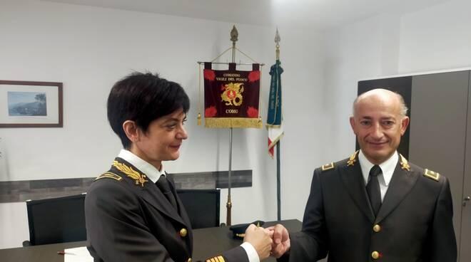 comando provinciale pompieri cambio vertice tra marcella battaglia e claudio giacalone