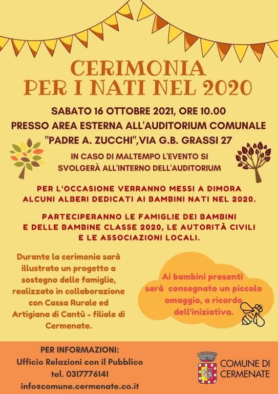 Eventi a Cermenate 3-16 ottobre 2021