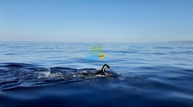 giorgio riva attraversata delle bocche di bonifacio a nuoto