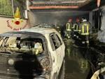 guanzate incendio notte box villetta auto distrutte dal fuoco