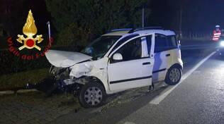 incidente auto novedrate una fuori strada tre feriti
