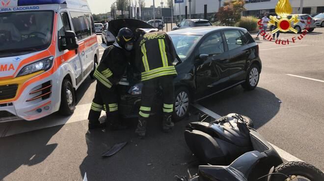 incidente auto scooter prato pagano oggi pomeriggio soccorsi