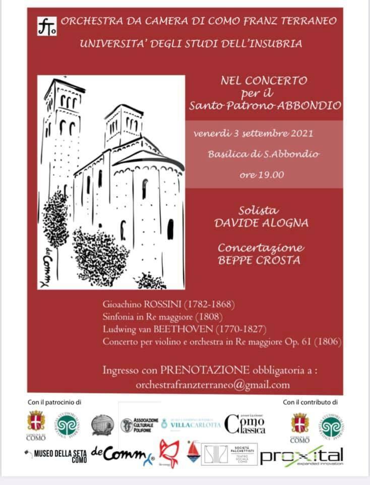 locandina concerto orchestra terraneo per sant'abbondio