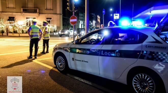 polizia locale notte controlli strade