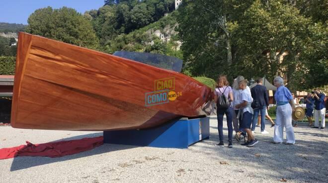presentazione barca elettrica villa d'este con fondazione volta e cantiere riva