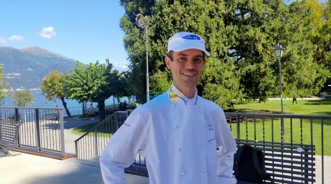 presentazione dinner in the sky a bellagio area lido con chef luigi gandola