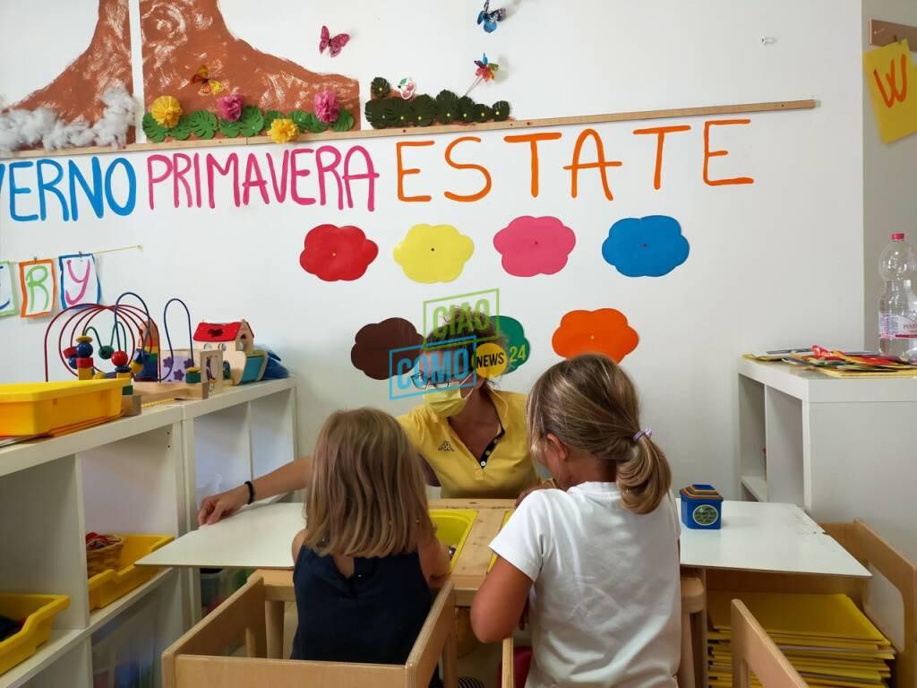 Primo giorno in aula per le scuole dell'infanzia di Como: il saluto dell'assessore