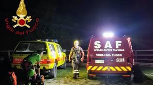 recupero ragazze disperse bosco in serata canzo con soccorso alpino e vigili del fuoco