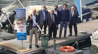 seabin presentato oggi cestino raccogli plastica lago di como yacht club