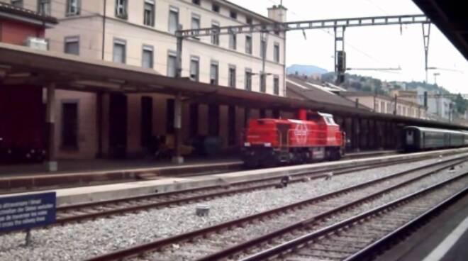 stazione chiasso treni fermi sui binari