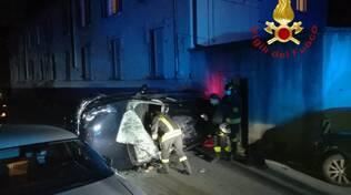 blevio incidente auto ribaltata soccorso pompieri