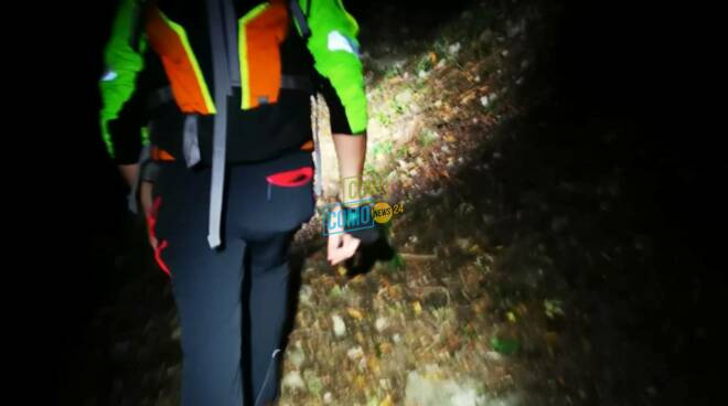 caslino d'erba intervento recupero di notte soccorso alpino