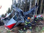 fotodocumentazione pompieri como per rimozione cabina del mottarone caduta a maggio