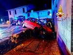 incidente stradale argegno auto fuori strada e contro muro soccorsi