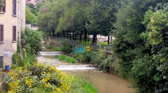 maltempo nel comasco situazione fiumi, smottamento a caslino erba