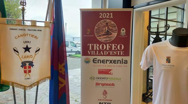 presentazione trofeo villa d'este canottaggio di sabato sede lario con presidente