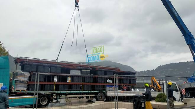 sant'agostino arrivo nuovi pontili per costruzione porto camion con pontili e gru