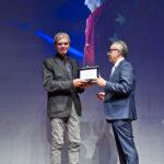 Casinò di Campione d'Italia serata Momenti di Sport, Roberto Bregani ritira il premio per Giorgio Perottino secondo classificato al concorso fotografico